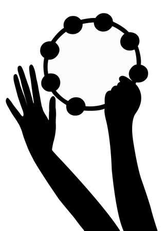 tambourine: hands playing tambourine