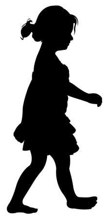 cute girl walking Vector