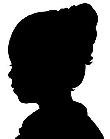 un vecteur tête de l'enfant de silhouette