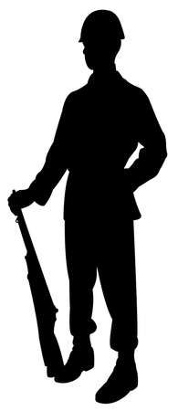 militant: Silhouette of a turkish soldier