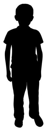 a poor body silhouette vector