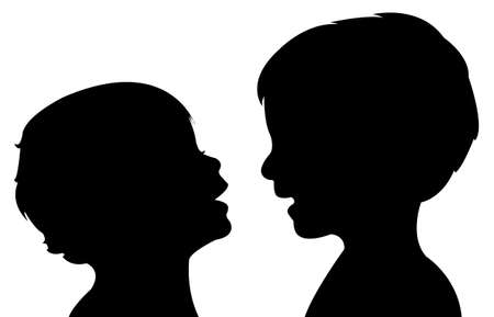 communicating babies silhouette
