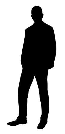 hoodlum: standing man silhouette vector  Illustration
