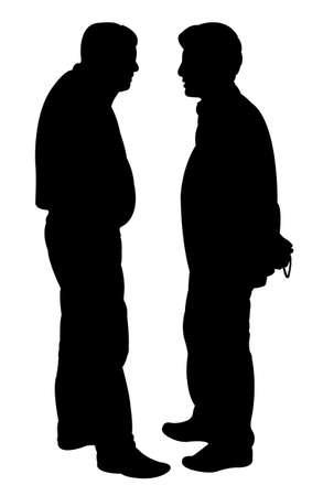 sidewalk talk: friends silhouette vector