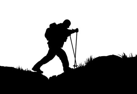 mountaineer: silhouette of a mountaineer