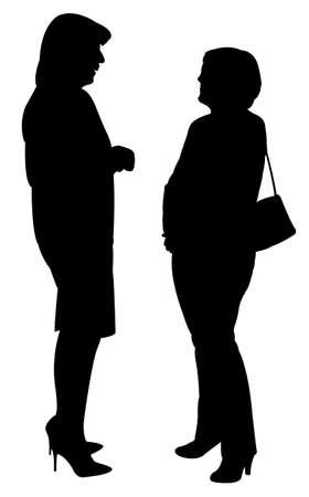 sidewalk talk: two women, talking to each other