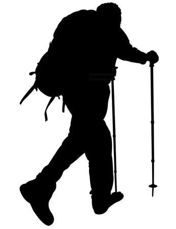 bergsteiger: Silhouette eines Bergsteiger