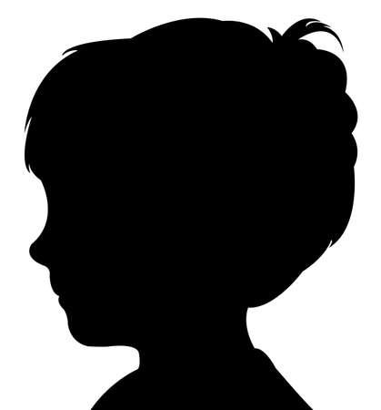 head silhouette: a boy head silhouette vector