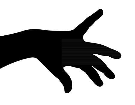 a hand silhouette vector  Vector