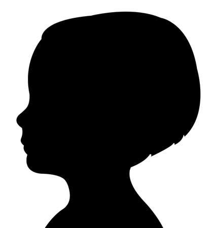 silueta niño: una silueta vector cabeza del niño Vectores