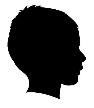 une silhouette de la tête de l'enfant