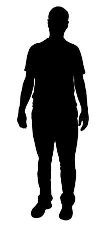 a man silhouette vector Illustration