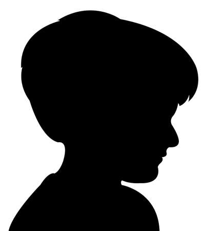 a child head silhouette vector Vector