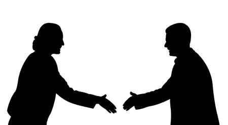 business people handshake illustration