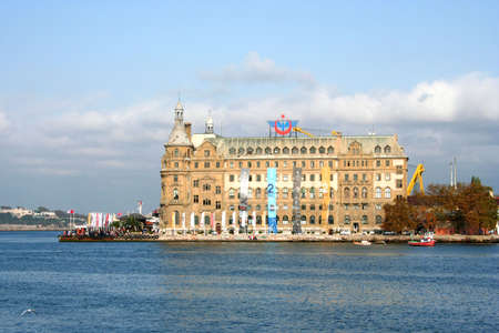 Haydarpasa railway terminal in the Asian part of Istanbul, Turkey, The photo taken in 2007.