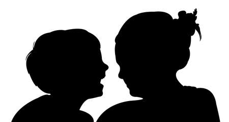 anger kid: a boy and a girl talking