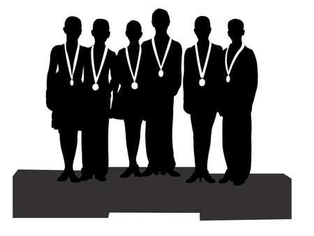 triunfador: los ganadores en el deporte, icono, vector