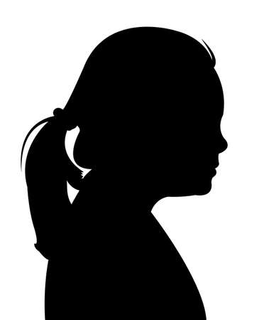 lady silhouette: a girl head silhouette vector Illustration