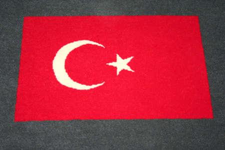 wool rugs: Turkish flag pattern on carpet