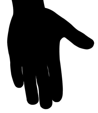 hand silhouette: hand palm silhouette, vector Illustration