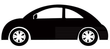 car: a toy, car silhouette Illustration