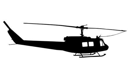 sikorsky: helicopter silhouette vector