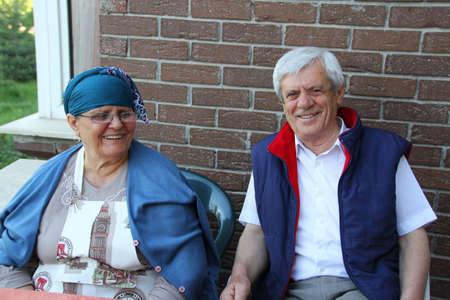 Happy old turkish couple photo