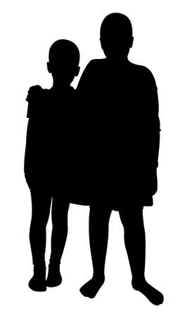 cody: Two Friends silhouette Illustration