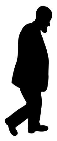 hector: standing man silhouette vector