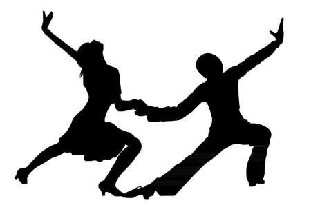 bolero: two children, tango dancers passion on the floor
