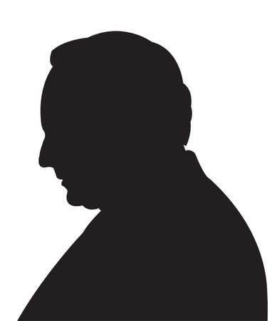 man head: Man head silhouette vector Illustration