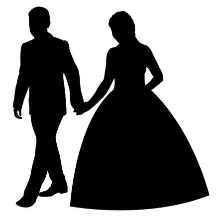just: just married couple Illustration