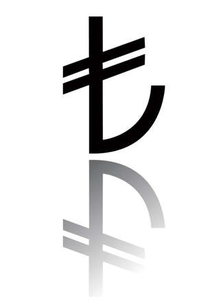 economical: turkish lira sign, vector