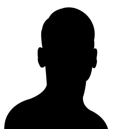 contemplate: a man head silhouette vector