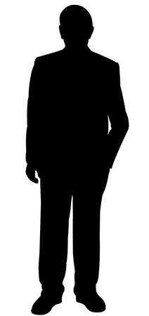 hector: standing man silhouette vector