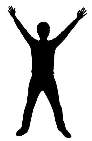 silueta hombre: Hombre vector silueta de pie