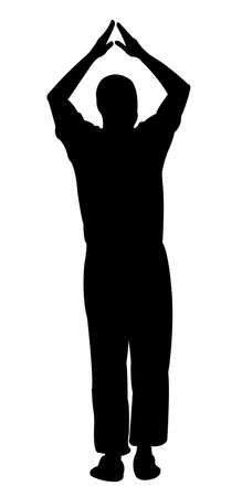 hector: Man silhouette standing vector