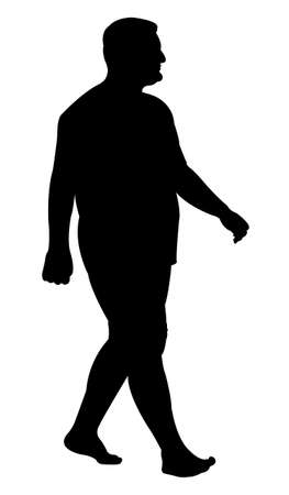 hector: man walking silhouette vector