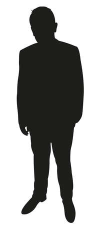 manly: a man in silhouette Illustration