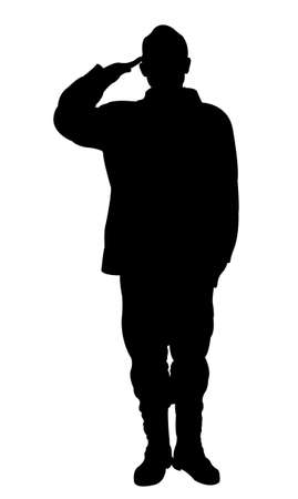 commando: Silhouette of a turkish soldier Illustration