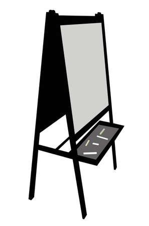 writing board: writing board silhouette vector