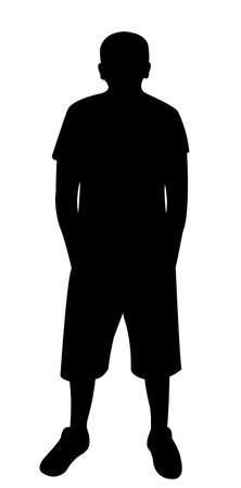 godfather: Man silhouette standing vector