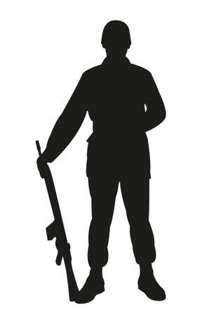 Silhouette of a turkish soldier 向量圖像