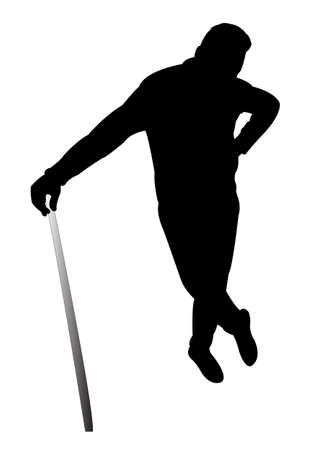 hector: man with the baton, silhouette vector