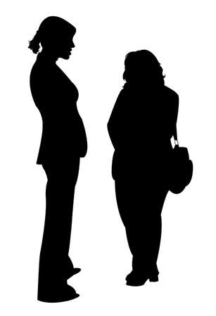 friends together: two friends together, silhouette vector