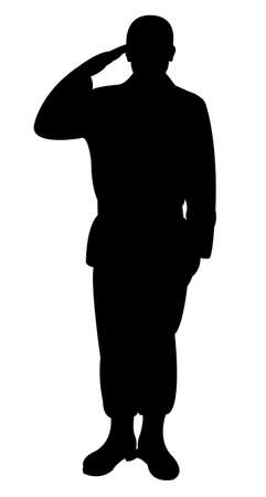 militant: Silhouette of a turkish soldier Illustration