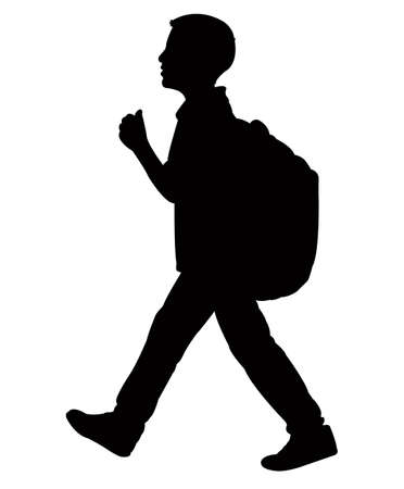 school: back to school kid silhouette