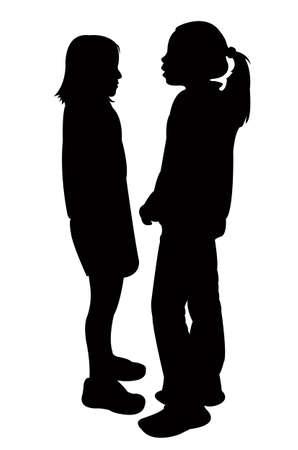 talking: two friends talking, vector
