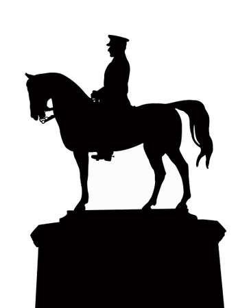 zvýšil: Ataturkun vector silhouette of the statue, thats located at Ankara, Ulus square, turkey Ilustrace