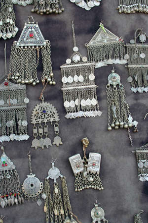 silver jewelry: antique silver jewelry Stock Photo